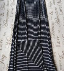 ZARA TRF maxi suknja sa bocnim prorezima