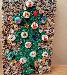 Novogodisnji mozaik-jelka i Deda Mraz