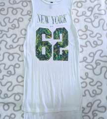 H&M bela majica sa rezom VISKOZA 100%
