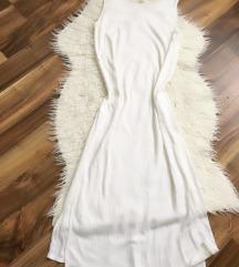 Zara bela pamučna haljina