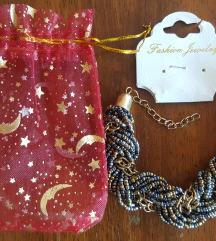 Nova narukvica sa zlatno-plavim perlicama