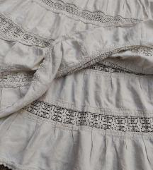 Etno unikatna bogato ukrasena  suknja sa volanima