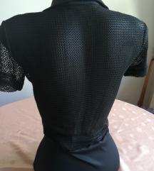 Crna mrezasta haljina