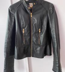 Crna kozna jakna SNIZENO