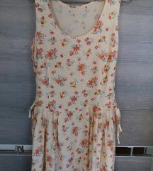 Vintage duga cvetna haljina SADA 800