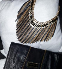 Crno i zlatno ogrlica snižena