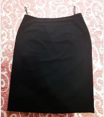 Crna poslovna uska suknja M velicina SNIZENA!!