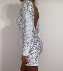 Bela haljina sa sljokicama