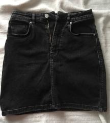 Zara crna teksas suknja