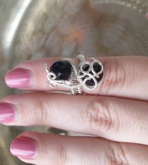 Prsten od posrebrene žice