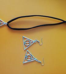 Harry potter ogrlica i minđuše