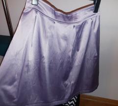 Satenska lila suknja M/L
