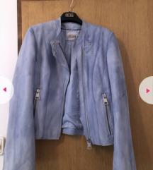 Mona plava kozna jakna