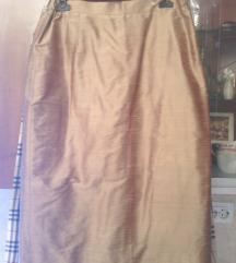 MONA svilena suknja 44(manja je)-NOVO