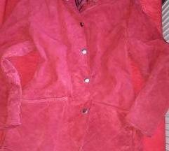 Crvena jakna od prave kože!