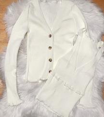 Beli kardigan & bluza na bretele (set) NOV