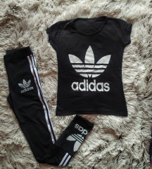 Adidas majica i helanka sml,NOVO