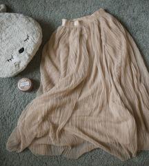 Preromanticna HM puder roze suknja, vel. XS