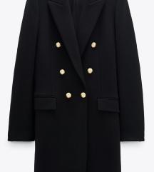 Zara crni kaput nov