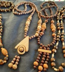 4 drvene ogrlice, samo 300 komplet