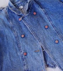 rezz vintage oversized  teksas jakna kao balmain