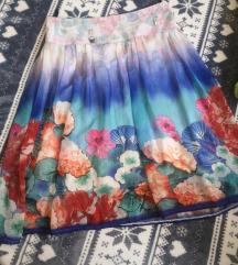 Cvetna tanka suknja