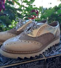 Kožne ženske cipele bež boje