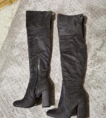 Sive cizme preko kolena