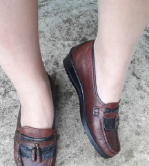 CAROLINE braon kozne cipele mokasine