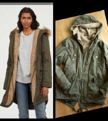 Maslinasta jakna parka M