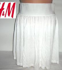 H&M NOVA bela suknja M
