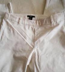 %%%HM bele pantalone 36 ili S slim fit