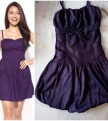 Ljubicasta svilena haljinica S A L E