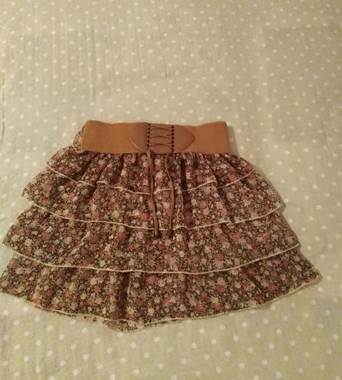 Suknja, cvetni print