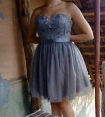 Siva haljina sa tilom 🙈👸lepsrava👸👑