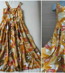 Vintage geometrijska leprsava sarena haljina  XS/S