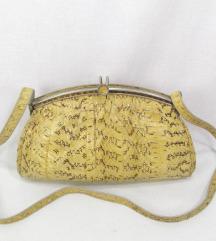 Vintage torba prirodna zmijska koza