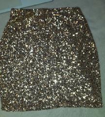 Zlatna suknjica sa sljokicama