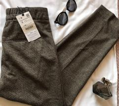 ZARA NOVE vunene poslovne pantalone S etiketa