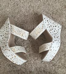 Bele papuce kao NOVE 38/24,5 cm