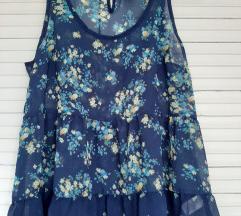Kraljevsko plava bluza na bretele