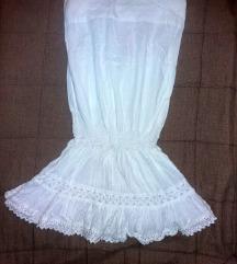 H&M bela top haljinica