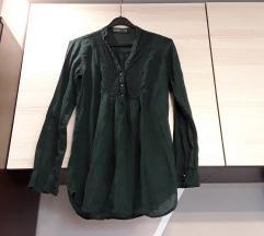 Zara tamno zelena kosulja 100% pamuk