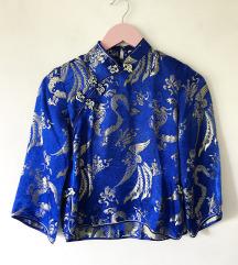 kineska plavo zlatna bluza 🐉 snižena sa 1000