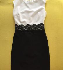 Crno bela svecana haljina