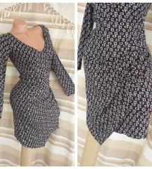 PIU&PIU ♛ retro wrap haljina od rayon svile ITALY