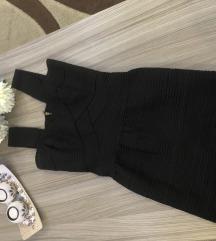 Crna strec haljina