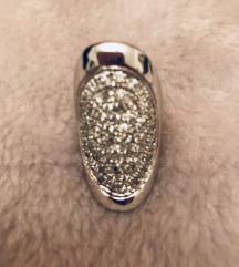 Unikat prsten od srebra sa swarovski  skristalima