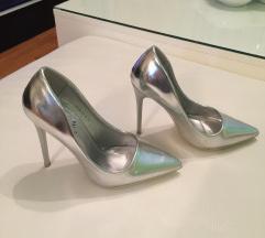 Srebrne cipele svecane 36