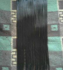 Tamno smedja kosa na klipse